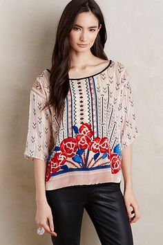 Posey Peasant Top by Moulinette Soeurs