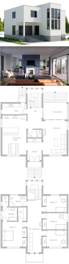 flooring plans Modern Architecture, Home Plans, House Plans, Floor Plans Modern House Plans, Small House Plans, Modern House Design, Simple Home Plans, Modern House Floor Plans, Sims House Plans, Modern Architecture House, Architecture Design, Plans Architecture