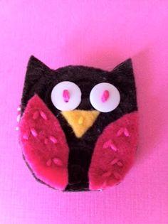 Felt Owl Clips {tutorial} - Mine for the Making