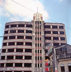 Vacant hotel, Macau (a special administrative district of China, like Hong Kong). It was the most modern and luxurious hotel in the city during the entire 1940s-1950s.