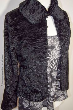 Miss Selfridges Black Velvet Jacket via Alter. Click on the image to see more!