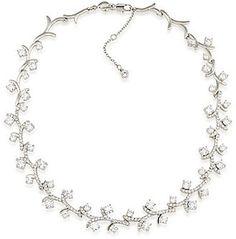 Carolee Prospect Park Vine Crystal Choker Necklace #bride #wedding #jewelry #bridaljewelryideas