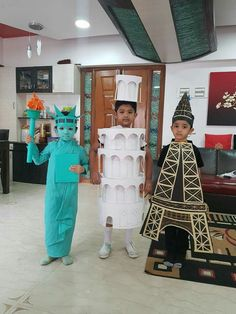 150 Kids Halloween Costumes that you can DIY in An Afternoon or Two - Ethinify Robot Costumes, Diy Halloween Costumes For Kids, Toddler Costumes, Baby Costumes, Fancy Dress For Kids, Kids Dress Up, Bubble Costume, Popcorn Costume, Fancy Dress Competition