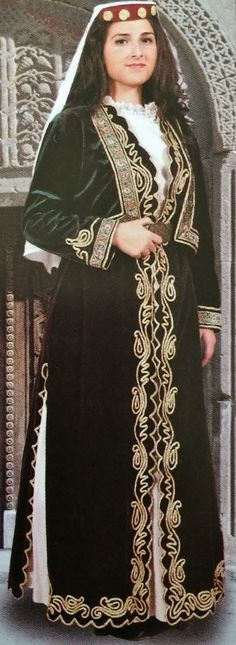 Traditional festive costume in Armenian style. Urban, from the Amasya province…