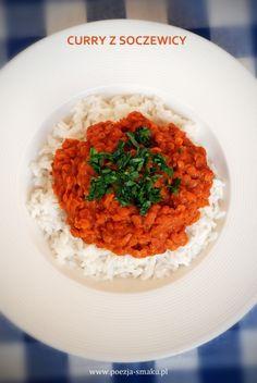 Wegetariańskie curry z czerwonej soczewicy / Red Lentil Curry (recipe in Polish)