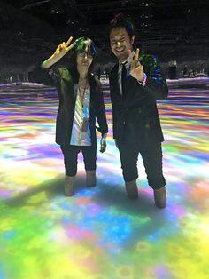 バンプオブチキンの藤原さんが、お台場みんなの夢大陸でやってる、DMMプラネッツ Art by teamLab に遊びに来てくれた!!! exhibition.team-lab.net/dmmplanets2016/ 最近、夜10時までやってます。 Fuji, Concert, Chicken, Concerts, Cubs