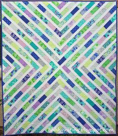 Horizon charm quilt by Ahhh Quilting