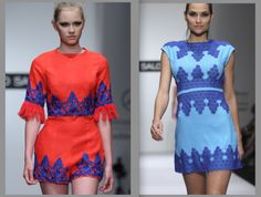 "Inspired in Mexican ""Papel picado"" dress by David Salomon"