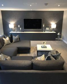 54 The Best Living Room Interior Design That You Can Try In Your Home Living Room Decor Design Home Interior Living Room Living Room Grey, Living Room Bedroom, Interior Design Living Room, Home And Living, Diy Bedroom, Bedroom Rustic, Kitchen Interior, Bedroom Small, Interior Livingroom