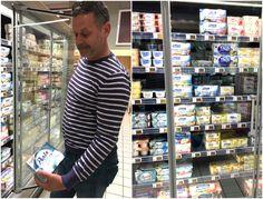 boodschappen Franse supermarkt yoghurt