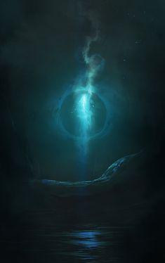 Will o' the Wisp by cobaltplasma on DeviantArt Fantasy World, Dark Fantasy, Fantasy Art, Merida, Will O The Wisp, Night Elf, Fantasy Creatures, Faeries, Dark Art