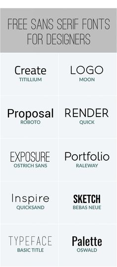 Must-Have FREE Sans-Serif Fonts (that are not Helvetica) - HANEP Creative Studio
