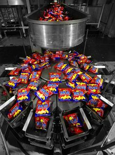Tayto Packing Machine in Tayto Plant, Ashbourne, Meath, Ireland © David Cantwell Photography Advertising Photography, Interior Photography, Commercial Photography, Drone Photography, Photography Portfolio, Lifestyle Photography, Portrait Photography, Packing Machine, Ireland