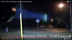 Thrunite TN40 vs TN30-mini - Flashlight Beamshot Battle