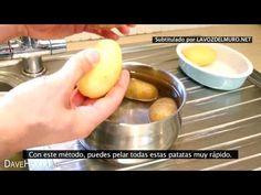 Aprende a pelar una gran cantidad de patatas rápidamente con este fantástico truco   La voz del muro