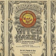 E. E. Dickinson & Co. double distilled their witch hazel for twice the witchiness. #typehunter #typeresearch #vintagelabel