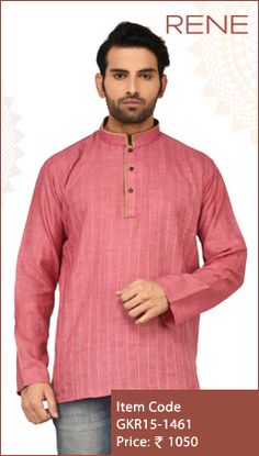 #Exclusive #EthnicWear #Design #Traditional #Trendy #Kurta #Men #Pink #Ootd #Outfit #Fashion #Style #ReneIndia #Brand available on #Flipkart #Snapdeal #paytm