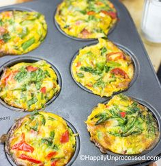 A crustless, dairy free, gluten free egg quiche cooked in a muffin tin for an easy no fail breakfast option. Light and fluffy and a must healthier option ...