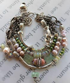 bracelet fluorite bracelet pink opal bracelet bangle