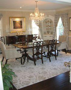 Elegant room....love the upholstery