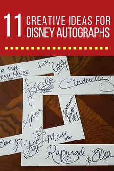 If your autograph book is filled up and you still would like characters to sign autographs, there are a few creative ways to showcase or display Disney character autographs. via @disneyinsider