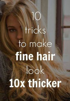 Tricks to make fine hair look thicker. All products for fuller thicker hair can . Tricks to make fine hair look thicker. All products for fuller thicker hair can be found at www. muk, rock your hair and planet Cosmo Thin Hair Cuts, Haircuts For Thin Fine Hair, Medium Haircut Thin Hair, Perm For Thin Hair, Thin Straight Hair, Thin Curly Hair, Bobs For Thin Hair, 4c Hair, Rock Your Hair