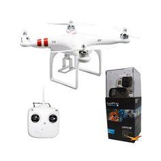Back in stock DJI Phantom Aerial UAV Drone Quadcop Multi-rotor System (CP.PT.000001) Bundle with GoPro HD HERO3+ Black Edition (CHDHX-302)