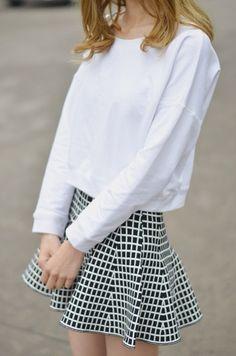 Stretch fabric skirts