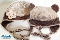 Babymütze häkeln – kostenlose Anleitung mit Bildern Small Baby Hats are cute, practical and easy to do by yourself. Our free guide shows you how to crochet a baby hat yourself. Quick Crochet Patterns, Newborn Crochet Patterns, Granny Square Crochet Pattern, Crochet Baby Hats, Baby Patterns, Baby Knitting, Knitted Hats, Easy Knit Hat, Baby Outfits Newborn