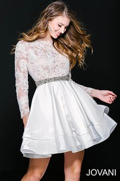 Lace and long sleeves is the best combo #Jovani 34001