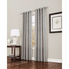 Allen Roth 95 In L Solid Slate Back Tab Curtain Panel
