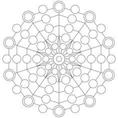 Mandala-Ausmalbild Nr. 125