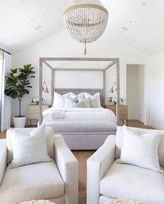 Master Bedroom Design, Dream Bedroom, Home Bedroom, Bedroom Furniture, Master Suite, Bedroom Ideas, Coastal Master Bedroom, All White Bedroom, Beach House Bedroom