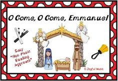 *** FREE DOWNLOAD ***  Enjoy using this Easy Tone Chimes & Bells arrangement of O COME, O COME, EMMANUEL.   Players do not need to be able to read music in order to play this piece!