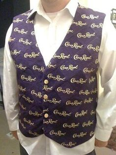 Awesome crown royal vest Crown Royal Quilt, Crown Royal Bags, Crown Crafts, Royal Clothing, Daddys Girl, The Crown, Mardi Gras, Diy Clothes, Quilting