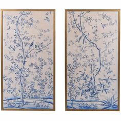 Buy the beautifully designed Blue Chinoiserie Blossom Artworks (Pair), by The French Bedroom Company. Bedroom Artwork, Wood Bedroom, Bedroom Ideas, French Bedside Tables, Spring Blossom, Rice Paper, Beautiful Bedrooms, Chinoiserie, Wall Prints