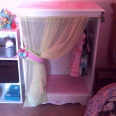 Dresser into a dress-up closet