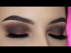 Smoked Out Brown Eye Makeup Tutorial - YouTube