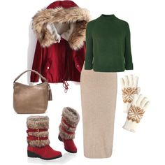 fur coat 5 by sintony on Polyvore featuring мода, Topshop, Iris & Ink, J.Crew, Isotoner, Winter, snow and fur