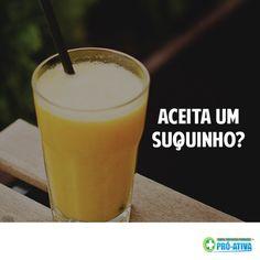 Que tal trocar a cervejinha e o refri geladinho por um suco natural? ;) #Saúde #Suco #ProAtiva #Verão #Hidratação
