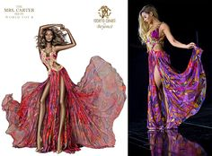 Beyonce in Roberto Cavalli: The picture on the left is a major Photoshop fail. Legs do not look like that. Nor arms. Nor her body. Roberto Cavalli, New Designer Dresses, Photoshop Fail, Mrs Carter, Fashion Fabric, Red Carpet Fashion, Fashion Outfits, Womens Fashion, Tie Dye Skirt