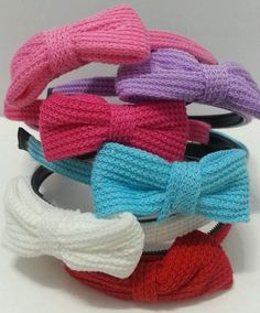 Knitted Knit design Bow Headband variety of colors