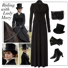 """""""Riding with Lady Mary"""" by vintagevelyn17 on Polyvore"""