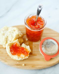 Cat Head Biscuits with Fresh Peach Jam by TreatsSF, via Flickr