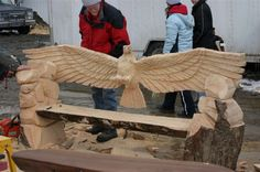 chainsaw carved benches   You need to enable Javascript.
