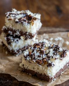 #Paleo Almond Joy Bars (and other paleo desserts)
