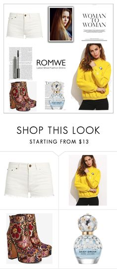 """""""Bez naslova #111"""" by mikimaus-i ❤ liked on Polyvore featuring Toni&Guy, Yves Saint Laurent, Shellys, Balmain, Marc Jacobs and MAC Cosmetics"""