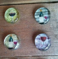 Wine Magnets by PickadillyGarden on Etsy