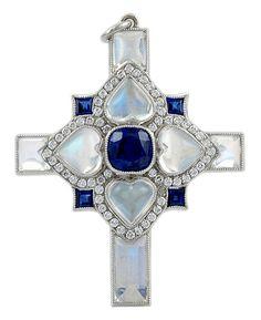 platinum_moonstone__sapphire___diamond_cross_pendant_1358797859.jpg (408×500)