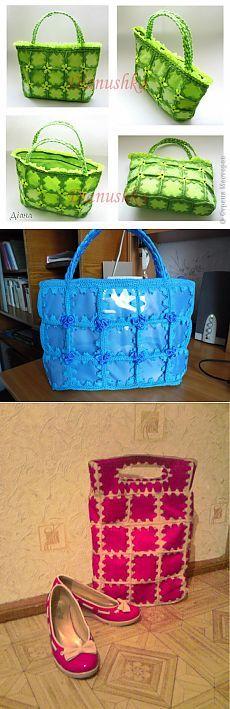 Летняя сумочка из пластиковых бутылок